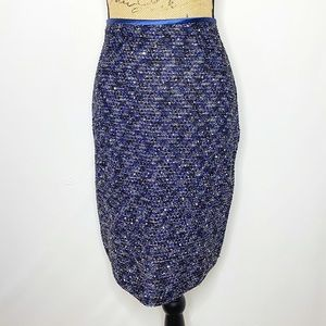 St. John Evening Sequin Knit Pencil Skirt